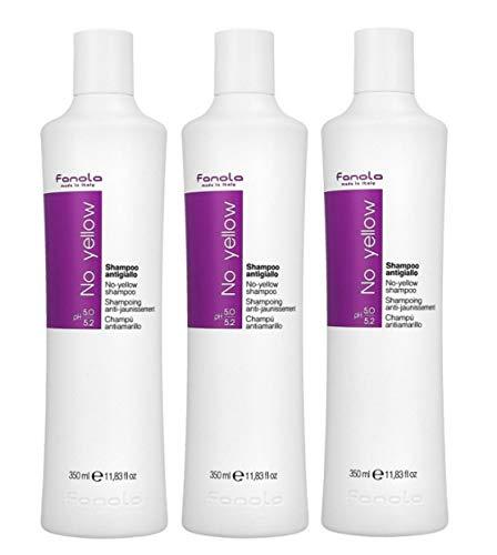 Fanola 3 er Pack Fanola No Yellow Shampoo 350ml
