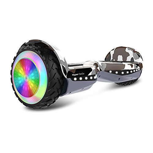 HYPER GOGO Hoverboard, Off Road All Terrain 6.5 inches Hoverboards with Bluetooth Speaker, Colorful LED Light Wheels, UL Certified Self Balancing Scooter,Desert Camo