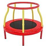 NOOYC Übungs-Trampolin, Kinder Fitness Rebounder beim Springen Nicht das Gleichgewicht verlieren, für Indoor/Garten/Workout Cardio,Red_47in/120cm