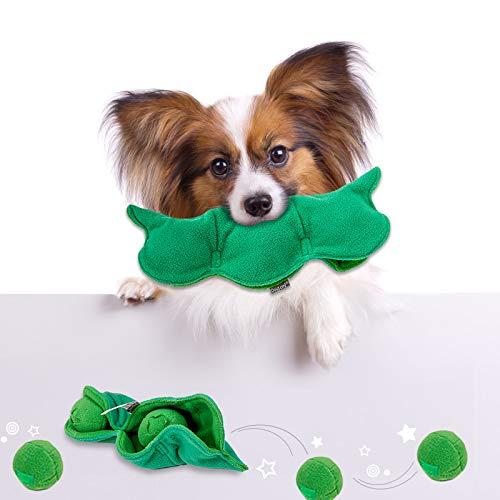 iKiKin Schnüffelteppich Hund, Snuffle Fütterungsmatte Snuffle Mat Nosework Slow Feeding Training Spielen Sie eine haltbare und maschinenwaschbare Matte für Hunde Erbsen