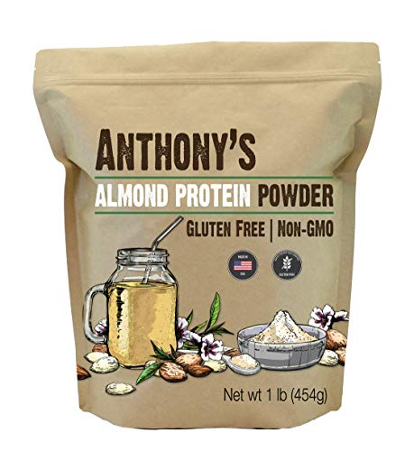 Anthony's Almond Protein Powder, 1 lb, Gluten Free, Non GMO, Plant Based Protein, Made in USA