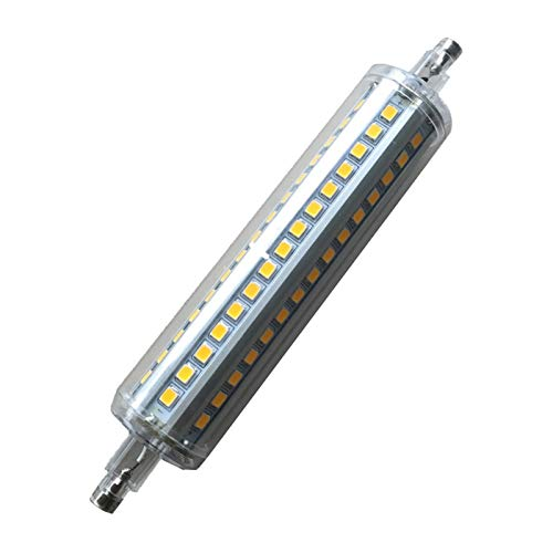 Maislampe R7s LED-Lampendimmer 135mm Lang Milchig 12W / Transparente Abdeckung R7s LED-Stecker Licht 25 Mm Durchmesser (Color : 110-130V, Size : Nature White4000K)