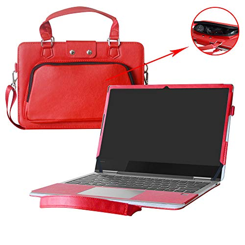Yoga 730 13 Case,2 in 1 Accurately Designed Protective PU Cover + Portable Carrying Bag for 13.3