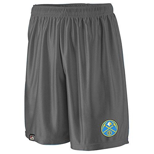 NBA Denver Nuggets Men's B&T Poly Fleece Team Shorts, 4X, Charcoal