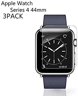 [3PACK] Watch Serie 4 44MM Tempered Glass Screen Protector, LuettBiden - 9H Hardness,Anti-Fingerprint,Anti-Scratch,Ultra-Clear,Bubble Free Screen Protector Compatible Watch Serie 4 44MM