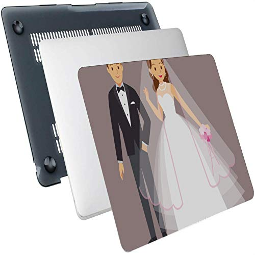 Mac Cases Just Married Couple Plastic Hard Shell Compatible Mac Air 13' Pro 13'/16' Mac Book Covers Protective Cover for MacBook 2016-2020 Version