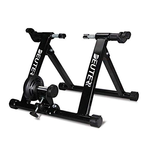 Magnetic Bike Trainer Stand, Indoor Exercise, Portle Foldle Cycling, Noise Reduction, Stationary Exercise for Road & Mountain Bikes