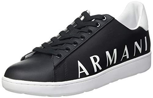 Armani Exchange Damen Copenhagen Logo Low TOP Sneaker, Black+Opt.White, 40 EU