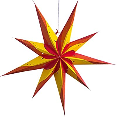 7 and 9 Pointed Paper Star Lanterns