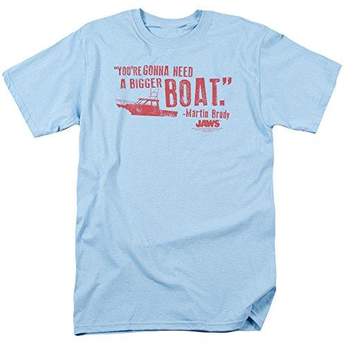 Jaws 1975Thriller película Steven Spielberg más grandes barco hombre camiseta camiseta