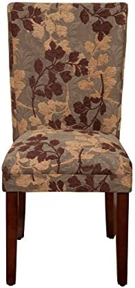 Best HomePop Parsons Classic Upholstered Accent Dining Chair, Single Pack, Brown Sage Leaf