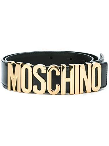 Moschino Luxury Fashion Damen A801280070555 Schwarz Leder Gürtel | Jahreszeit Permanent