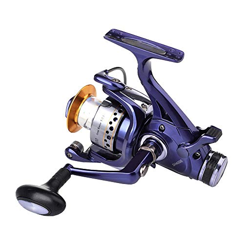 GFBVC Carrete Giratorio SH Carrete De Pesca 3000-6000 Serise, 8 Rodamientos De Bolas Izquierda/Derecha Intercambiable Mar De Giro del Carrete (Color : Purple, Size : SH5000)