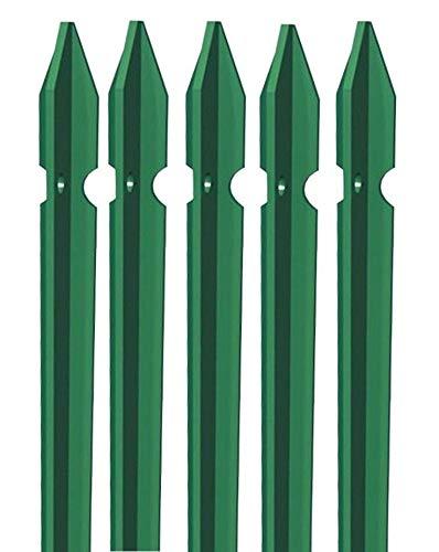 5x Erdspieß T Eisen grün Zaunpfosten