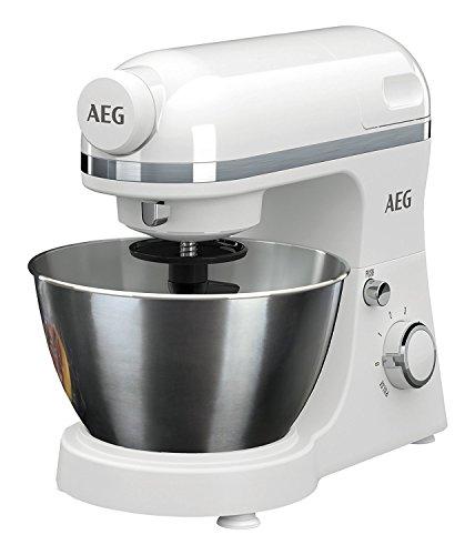 AEG Küchenmaschine 3Series KM3200 inkl. Standmixer-Aufsatz (6 Geschwindigkeitsstufen + Pulse-Funktion, 800 Watt) weiß (Generalüberholt)