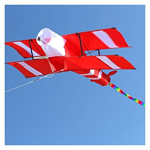 GUIYONGMY Cometa Nueva Línea Individual 3D Playa de Deporte de Kite de avión Rojo con Mango y cordón Fácil de Volar Volando Outlet