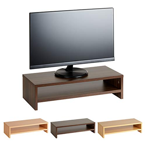 Hartleys Monitortisch in Holzoptik, mit 2Böden