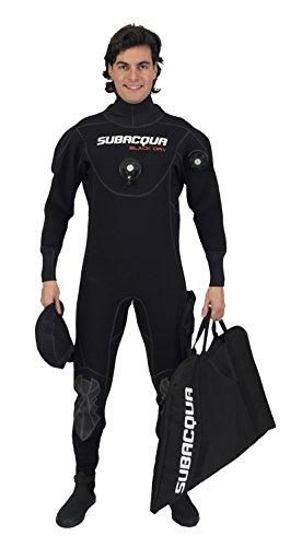 Subacqua Traje Seco Black Dry, Negro, Talla XL