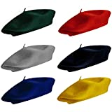 CoverYourHair Berets for Adults - French Beret - Artist Hat - 6 Pack (Colorful - 6 Pack)