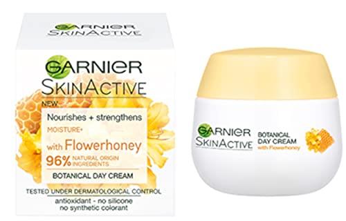 GARNIER Skin Active Crema de día con FLOWERHONEY - Nutre y fortalece - Sin silicona