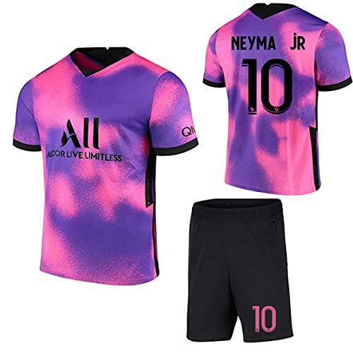 cjbaok Unisex Fußball Trikot für Kinder und Erwachsene Herren Jersey, Jordan Point of View 7# Mbappé 10# Neymar Fan Fußballtrikots, T-Shirt,20-21,lila