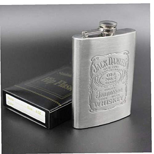 Ruluti 1pc Acero Inoxidable Mini Frasco De La Cadera del Pote del Vino 6 Oz Frasco De La Cadera De Los Garrafones para Hombres Botella De Whisky De Contenedores Vasos