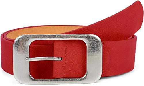 styleBREAKER uniseks riem met grote rechthoekige gesp, inkortbaar 03010100