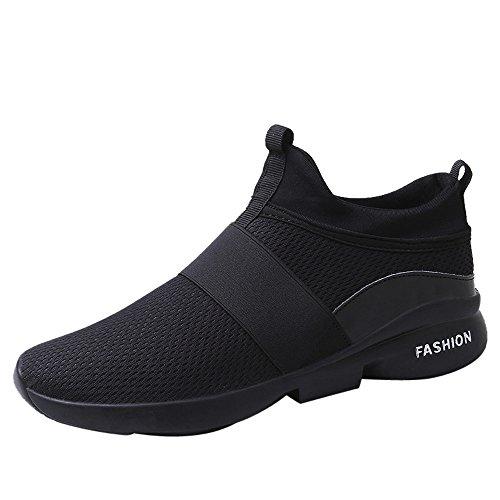 iHAZA Sneakers Elegante Uomo Scarpe Mesh Traspirante Ampio Slip-on Scarpe Casual