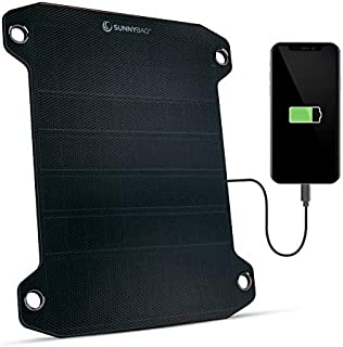 Sunnybag Leaf PRO | Premium Outdoor Solar Charger | 7.5 watt | Flexible Solar Panel Charger for Hiking and Camping | Light-Weight and Waterproof | Fits on Any Hiking Backpack | Incl. Fastening Gear