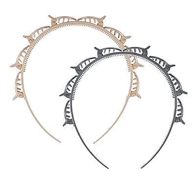 2PCS Double Layer Twist Plait Headband Hair Too...
