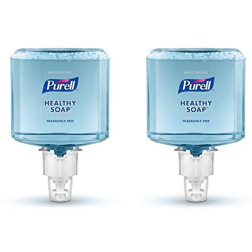 PURELL Healthcare HEALTHY SOAP Gentle and Free Foam, Fragrance Free, EcoLogo Certified, 1200 mL Hand Soap Refill for PURELL ES4 Push-Style Soap Dispenser (Pack of 2) - 5072-02