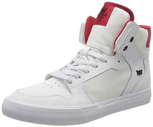 Supra Men's Hi-Top Trainers, White White Red White 148, 9 UK