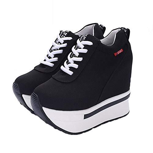 Zapatillas de Deporte de Plataforma para el Ocio, Zapatos para Mujer, Ligeros, para Exteriores, de Uso Diario, Enredaderas de cuña, Zapatos de Trabajo con Cordones para Primavera y otoño
