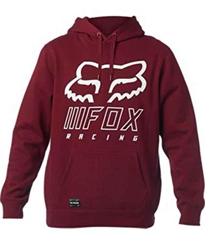 Fox Racing Men's Standard Overhaul Fleece Hoody,Large,Cranberry