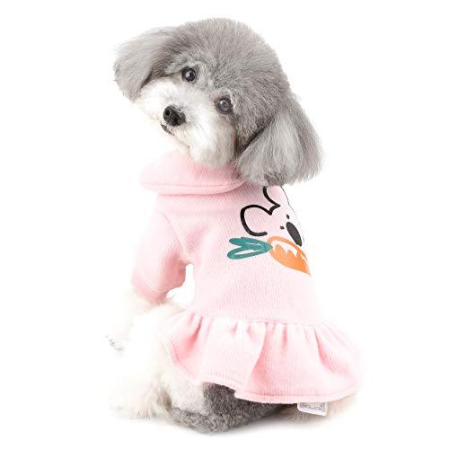 Ranphy Vestido de algodón para Perro pequeño para Mascota, Ropa cálida para Cachorros, Vestidos de Princesa, para Gato, Camisa, Falda, Conjunto General, para Fiesta, cumpleaños, Navidad, Pascua