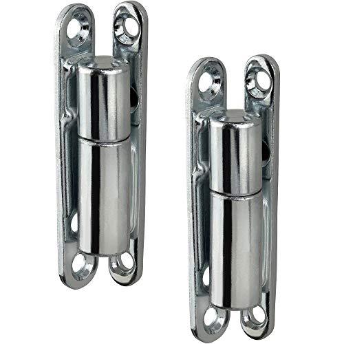 Gedotec Renovierband Zimmertür Türband für Innentüren zum Schrauben | Scharnier für Fenster & Türen | Reparaturband 14x83 mm | Türscharnier zum Aufschrauben | 2 Stück - Aufschraubband Stahl verzinkt