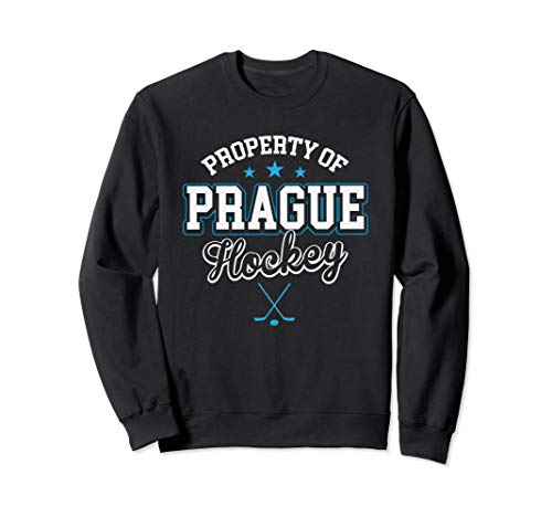 Property Prague Czech Republic Hockey Flag Supporter Gift Sweatshirt