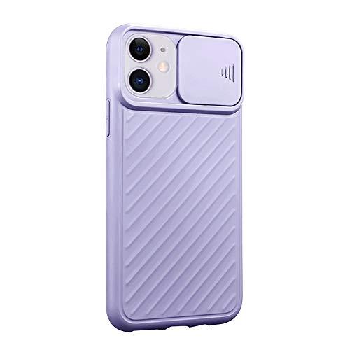 Funda iPhone 11 Carcasa Ligera Silicona Suave TPU Gel Bumper Case Cover de Protección Antideslizante [Protección de la cámara] Caso para iPhone 11 (iPhone 11, Púrpura)