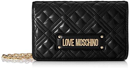 Love Moschino Jc4010pp1a, Borsetta da Polso Donna, Nero (Nero),...