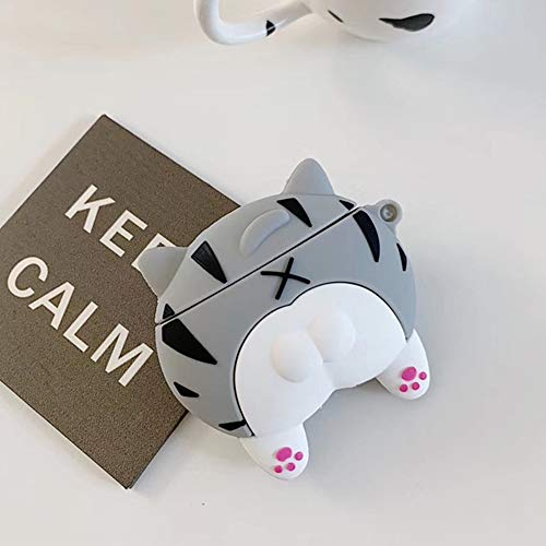 Kompatibel mit AirPods 1/2 Case,Airpods Hülle Cute 3D Funny Tier Cartoon Weich TPU Silikon Gummi Gel Schlank Dünn Case Cover [Mädchen Kinder Jungs] Stoßfest Schutzhülle für Airpods 2/1,Pussy Arsch