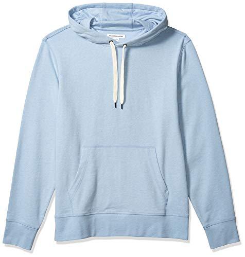 Amazon Essentials Lightweight French Terry Hooded Sweatshirt Fashion-Hoodies, Hellblau, US L (EU L)