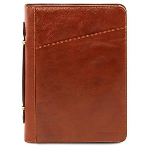 Tuscany Leather - Costanzo - Portadocumentos Elegante en Piel Miel - TL141295/3