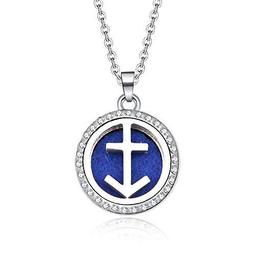 Pendant Constellation,Sagittarius 12 Zodiac Aroma Box Necklace Magnetic Stainless Steel Aromatherapy Essential Oil Diffuser Perfume Locket Pendant Jewelry Birthday Gift
