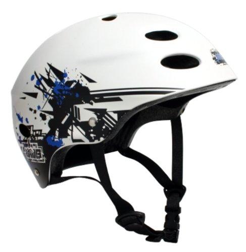 MBS Grafstract Helmet (White, Small/Medium)