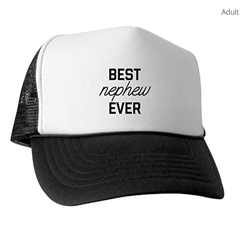 CafePress Best Nephew Ever Trucker Hat, Classic Baseball Hat, Unique Trucker Cap Black/White