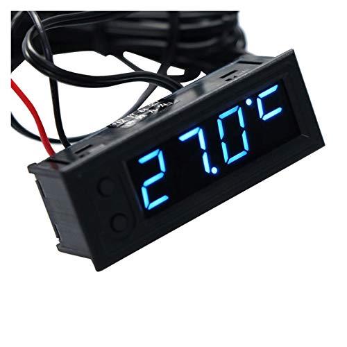 CCHAO Accesorios para Automóviles De Temperatura De Temperatura De Automóvil Multifunción Módulo De Reloj Electrónico Multifuncional Entregar Rápidamente (Color : Blue)