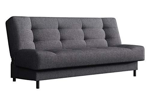 Mirjan24 Schlafsofa Livia mit Bettkasten, neues Modell 3 Sitzer Sofa mit Schlaffunktion, Farbauswahl, Couch, Bettsofa Schlafsofa Couchgarnitur Polstersofa, Top-Qualität (NELA 29)