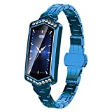 CZX Smartwatch, 2020 Nueva Hembra Reloj Inteligente, La Frecuencia Cardíaca Resistente Al Agua Vigilancia De Bluetooth para Android iOS Pulsera De La Aptitud,D
