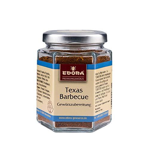 Premium Qualität Gewürz EDORA Schraubglas Texas-BBQ Gewürzzubereitung Grill und Pfanne Gewürzmischung 75 Gramm