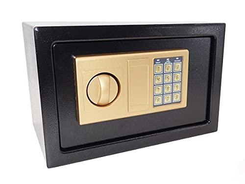 Cofre eletronico com senha e chave codificada (PRETO)